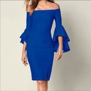 Venus off shoulder bell sleeve sheath dress size 8